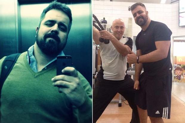 Ex-bbbs que Emagreceram - Ex-BBB Marcelo ainda gordinho, à esquerda, e agora, com menos 20 quilos  (Foto: Instagram / Reprodução)