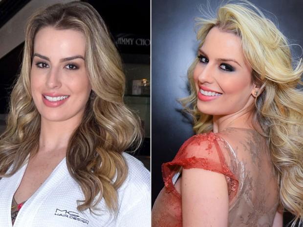 Ex-BBB Fernanda Keulla em salão de beleza em São Paulo: antes e depois (Foto: Caio Duran e Eduardo Martins/ CDC Shows e Eventos/ Divulgação)