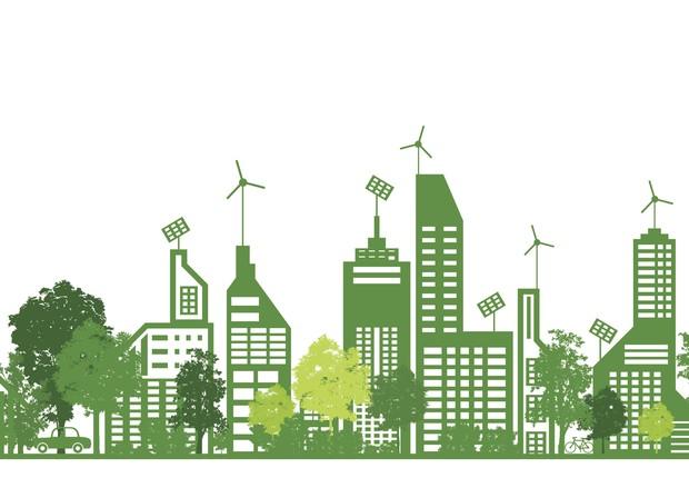 Dia do meio ambiente cidade ecológica ilustração (Foto: Thinkstock)