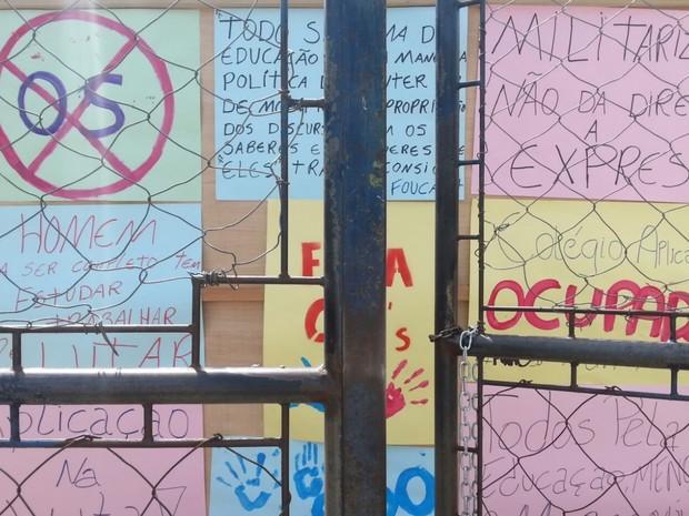 Estudantes ocuparam escola na cidade de Goiás (Foto: Divulgação)