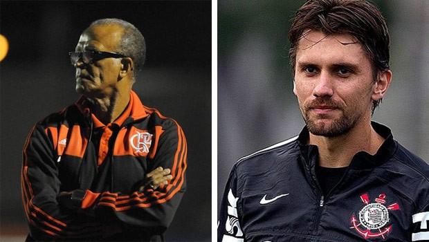 Flamengo e Corinthians é a atração do domingo na RPC TV (Foto: André Durão/Globoesporte.com e  Daniel Augusto Jr./Agência Corinthians)