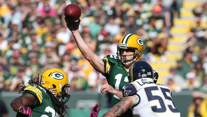 Aarons Rodgers Green Bay Packers x St Louis Rams NFL (Foto: Getty Images)