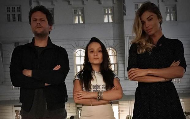 Selton Mello, Larissa Manoela e Grazi Massafera juntos no Copacabana Palace (Foto: Reprodução/Instagram)