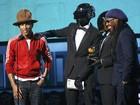 Pharrell Williams leiloa chapéu usado em apresentação no Grammy