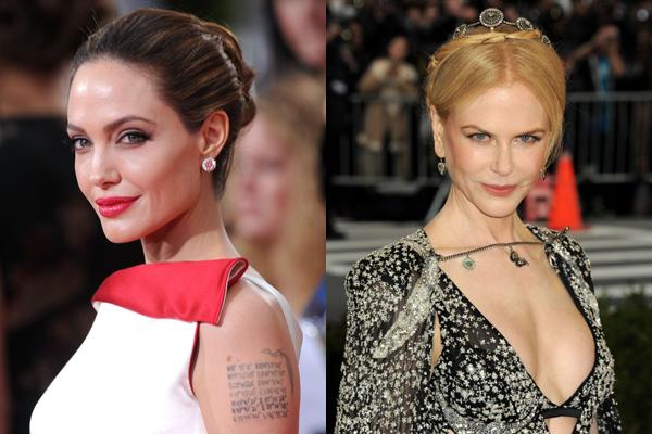 Angelina Jolie e Nicole Kidman (Foto: Divulgação)