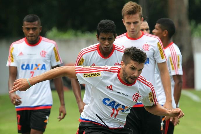 Lucas Mugni Treino do Flamengo (Foto: Gilvan de Souza / Flamengo)