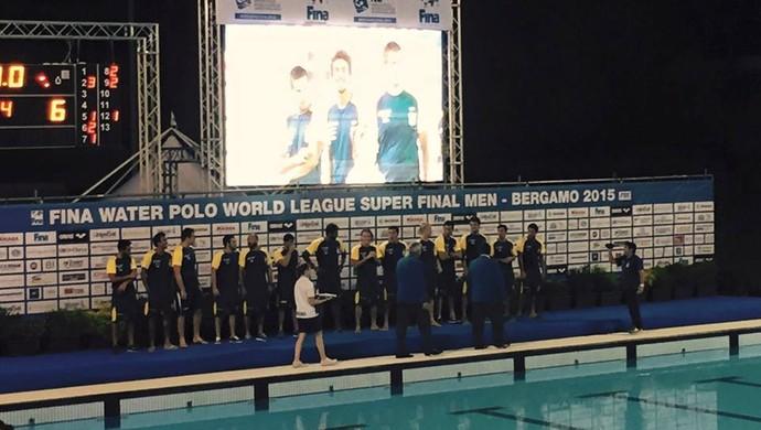 Brasil polo aquático bronze liga mundial (Foto: Reprodução/Twitter)