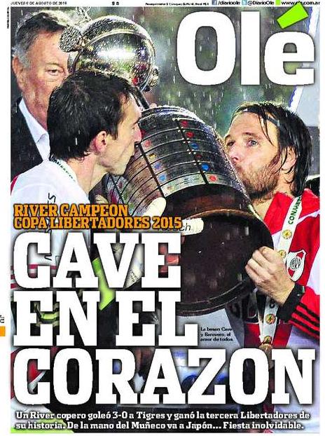Capa Olé - título River Plate Libertadores