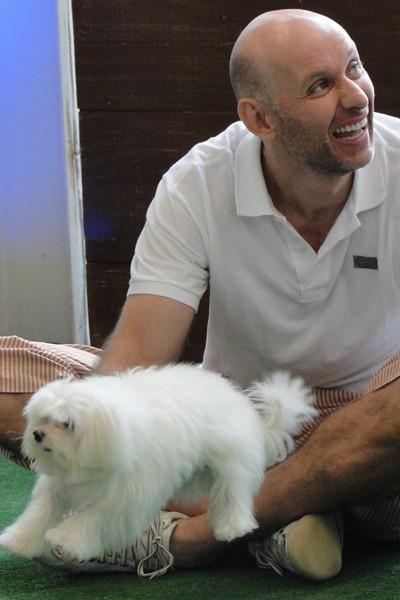 Zack e Tande durante o 'Cachorrada 2010' (Foto: Domingão do Faustão / TV Globo)