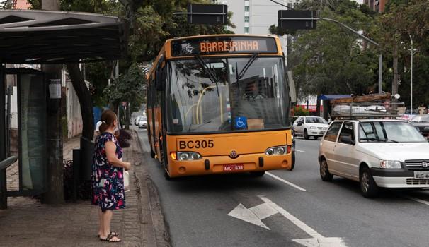 Paraná TV 1ª Edição Greve de ônibus (Foto: Cesar Brustolin/SMCS / Divulgação Site Prefeitura de Curitiba)