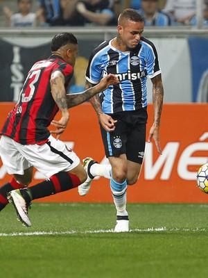 Grêmio x Atlético-PR Arena Brasileirão Luan (Foto: Lucas Uebel / Grêmio / Divulgação)