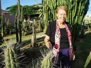 """""""Quando entro aqui, me sinto em outro mundo, no paraíso"""", diz Marlene Parzewski, a dona do jardim (Foto: Fabiula Wurmeister / G1)"""