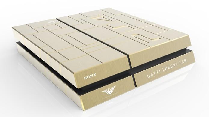 PS4 de ouro foi vendido em feira no Oriente Médio (Foto: Divulgação)