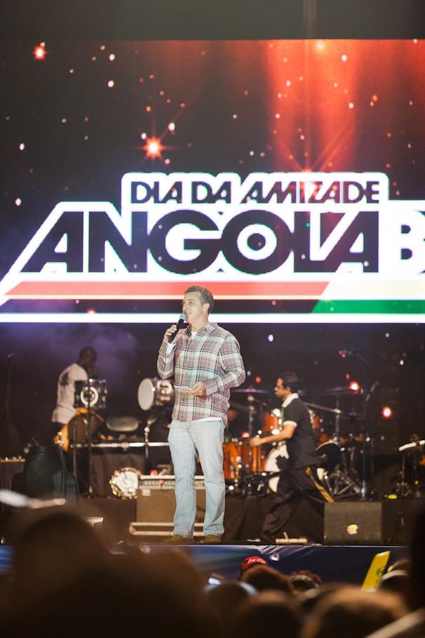 A 5ª edição do Dia da Amizade Angola-Brasil, em Luanda, mais uma vez contou com a participação de Luciano Huck (Foto: Globo)