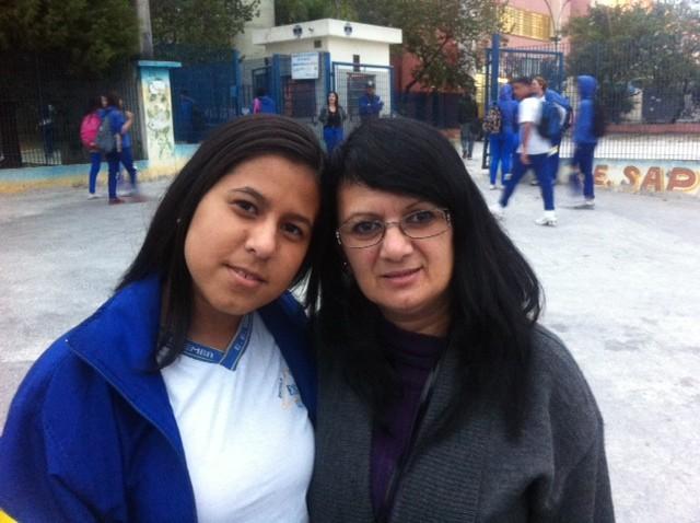 Aluna comenta sobre reposição de aulas (Foto: Tatiana Santiago/G1)