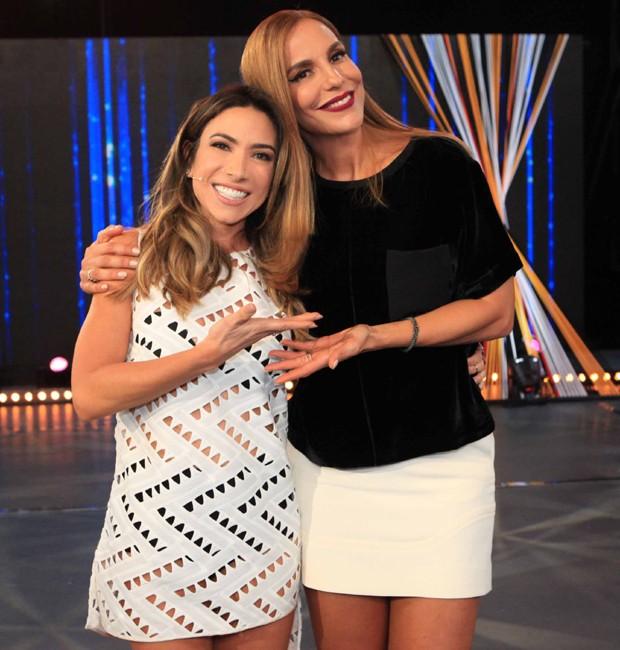 Patricia Abravanel e Ivete Sangalo (Foto: Divulgação/SBT)