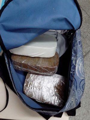 Drogas são apreendidas durante barreira policial na BR-101 (Foto: PF / Divulgação)