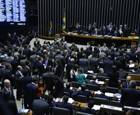 Sessão do Congresso para analisar os vetos da presidente Dilma  (Foto: Agência Brasil)