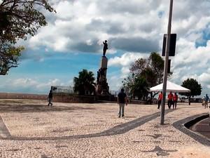 Praça Castro Alves, em Salvador. (Foto: Maiana Belo / G1 BA)