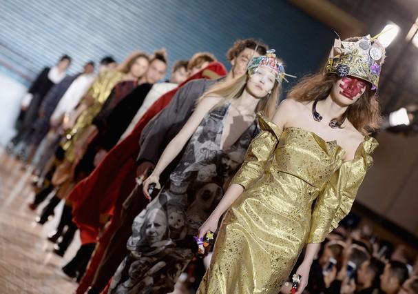 Desfile da Vivienne Westwood na LFW (Foto: Getty Images)