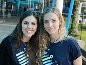 Milena e Amanda prestam o Enem em Rio do Sul (Foto: Arquivo Pessoal)