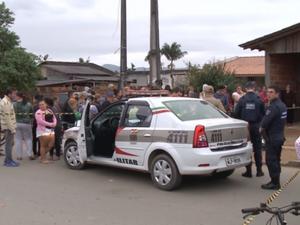 Crime aconteceu no bairro Jardim Paraíso, Zona Norte de Joinville (Foto: Reprodução/RBS TV)
