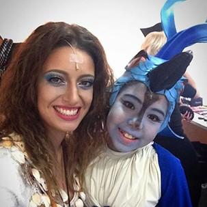 Tetê Prezoto com a apresentadora da Rede Vanguarda, Ana Paula Torquetti (Foto: Arquivo pessoal)