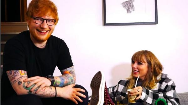 Os cantores e amigos Ed Sheeran e Taylor Swift (Foto: Instagram)