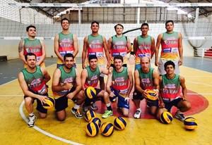 Seleção Acreana de Vôlei Adulto que vai disputar a Copa Amazônia Sustentável de Vôlei (Foto: Divulgação/Feav)