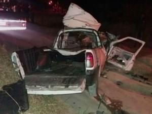 Seis pessoas morreram após colisão frontal na BR-110 (Foto: Reprodução / TV Bahia)