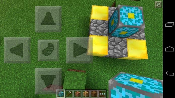 Em seguida, coloque os blocos de ouro e o Nether Reactor Core (Foto: Reprodução/Tais Carvalho)