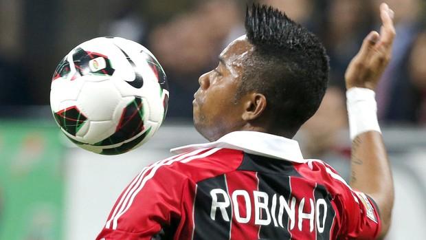 Robinho, Milan e Cagliari (Foto: Agência Reuters)