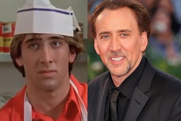 Agora Nicolas Cage estrela em tudo quanto filme de ação. Porém, o astro começou nas telonas em 1982, como colega de um dos protagonistas de 'Picardias Estudantis'. (Foto: Divulgação e Wikimedia/JasonAQuest)