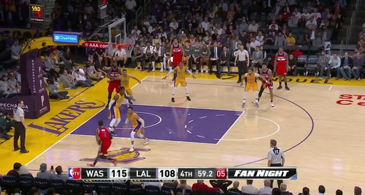 Wizards 119 x 108 Lakers