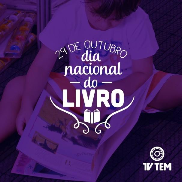 No Dia Nacional do Livro, apresentadores da TV TEM dão dicas de leitura (Foto: Arte/TV TEM)