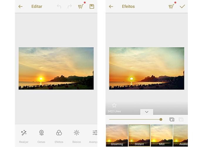 Fotor permite que usuário compartilhe resultado da edição de forma simples (Foto: Reprodução/Barbara Mannara)