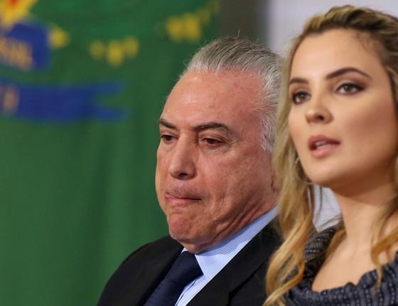 Michel Temer e marcela Temer (Foto: REUTERS/Adriano Machado )