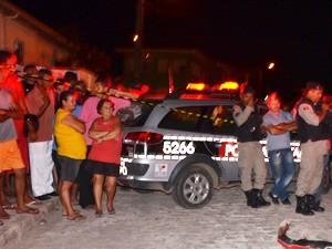Ex-presidiário foi morto a tiros no bairro Funcionários I (Foto: Walter Paparazzo/G1)
