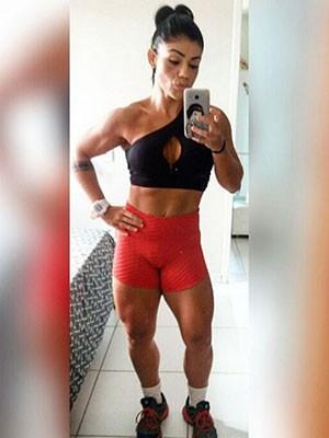 Fisiculturista sentiu dores abdominais durante treino e foi socorrida (Foto: Arquivo pessoal)