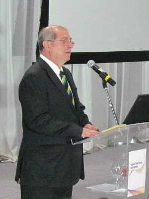 O Ministro das Telecomunicações, Paulo Bernardo, participou do evento. (Divulgação/Press Office)