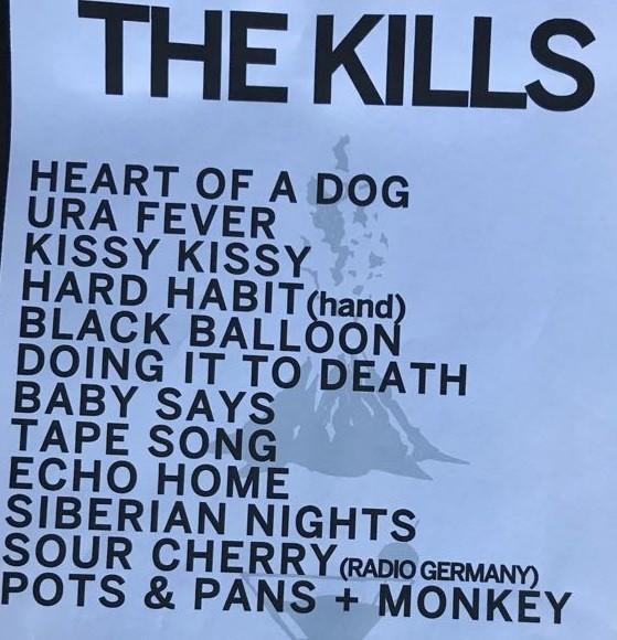 Set list do duo The Kill, que se apresenta no Palco Sunset (Foto: Reproduo)