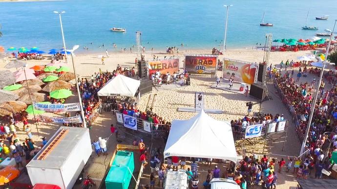 Programa gravado em Barra do Cunhaú durante todo o verão (Foto: Alexandre Gomes)