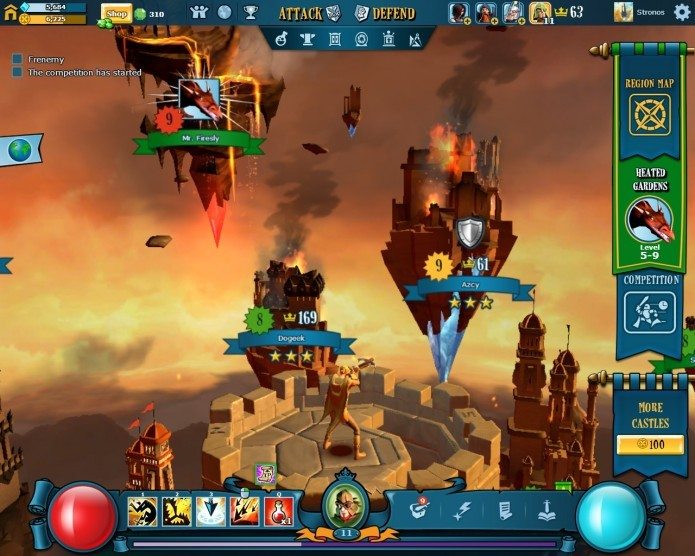 O visual da interface de administração de ataques e equipamentos de The Mighty Quest For Epic Loot  é bastante impressionante (Foto: Reprodução/Daniel Ribeiro)