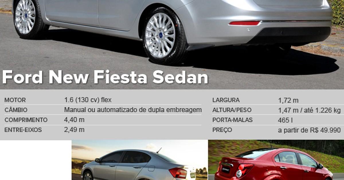Auto Esporte - Primeiras impressões  Ford New Fiesta Sedan 2014 Powershift 0503e50ac7b78