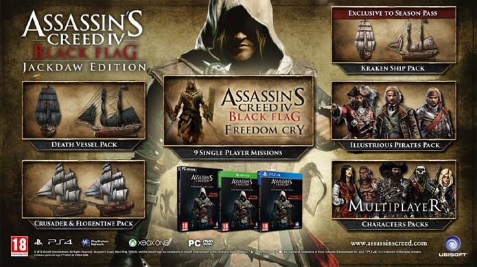 Edição especial de Assassins Creed 4 trará o jogo original e seus principais DLCs (Foto: Joystiq)