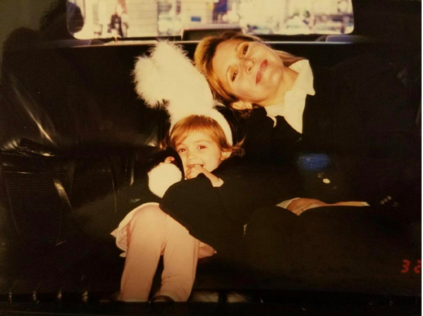 A atriz Carrie Fisher com a filha, Billie Lourd (Foto: Instagram)