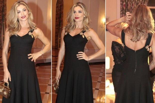 Detalhes do vestido de Grazi Massafera em premiação no Rio (Foto: Isac Luz/EGO)