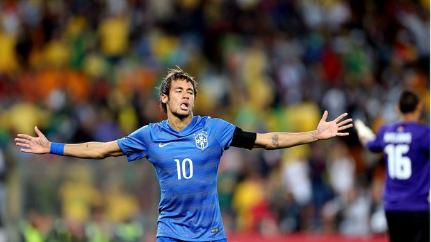 Neymar brasil gol África do Sul amistoso (Foto: Jefferson Bernardes / Vipcomm)
