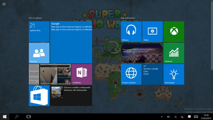 Windows 10 ganhou novas animações tridimensionais nos blocos dinâmicos (Foto: Reprodução/Elson de Souza) (Foto: Windows 10 ganhou novas animações tridimensionais nos blocos dinâmicos (Foto: Reprodução/Elson de Souza))