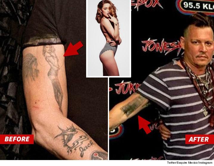 Johnny Depp Altera Tatuagens Feitas Em Homenagem A Amber Heard Vogue Gente